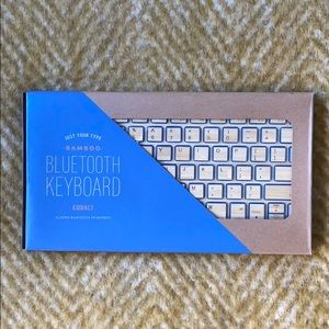 West Elm Impecca Bamboo Bluetooth Keyboard NWT